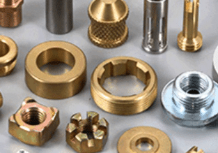 Brass and steel turned parts